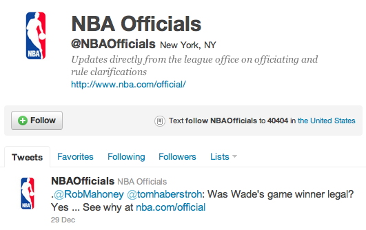 NBA Uses Twitter to Defend Controversial Calls   Wild Hair Media